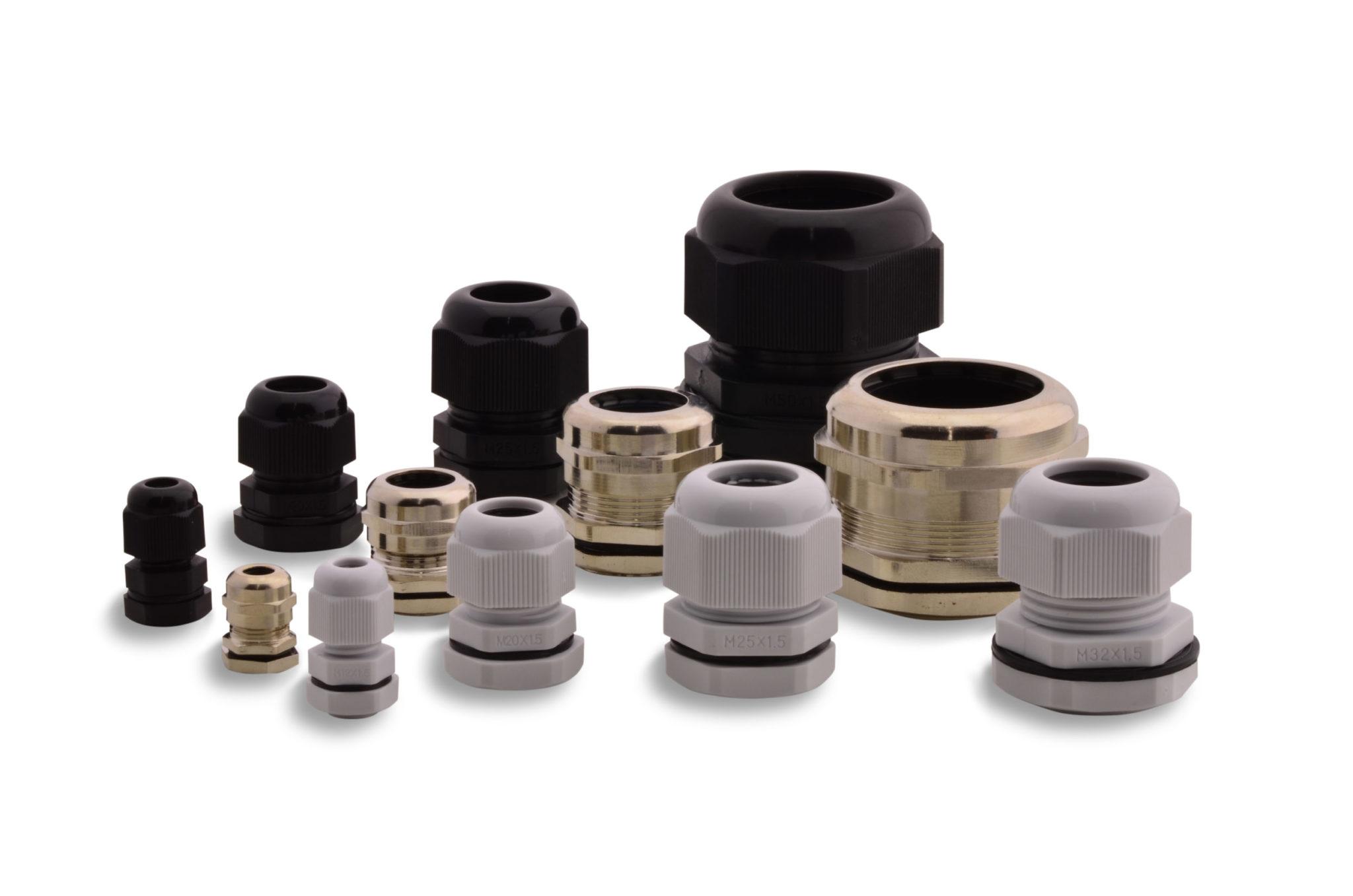 BOXEXPERT-Polyamid-grau-schwarz-Messing-Kabelverschraubung-BXPKVS-Gruppenbild